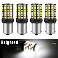 4pc 1156 BA15S 3014 144SMD Weiß LED Auto Blinker Lampe Licht Rücklicht Glühlampe