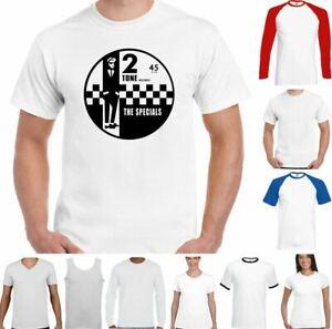 2 Tone Records T-Shirt The Specials Mens Retro Music SKA Northern Soul Reggae