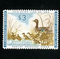 US Stamps # RW28 XF OG NH Scott Value $95.00