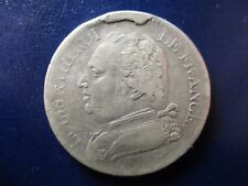 FRANCIA LOUIS XVIII  5 FRANCS 1815 L BAYONNE BUST HABILLE ERROR EXCESO METAL