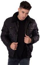 Cappotti e giacche da uomo nere in pelliccia con colletto