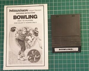 Intellivision Bowling with manual