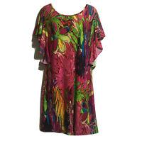 PRINT FUSION ART TO WEAR Bohemian Bloggers Vibrant Artistic Tunic Dress UK 10/12