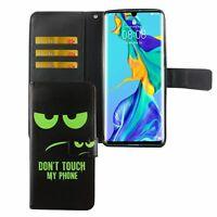 Huawei P30 Pro Étui Coque pour Portable Sac de Protection Clapet Pochette Vert