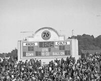 1969 Scoreboard KEZAR STADIUM Glossy 8x10 Photo 49ERS vs COLTS Poster Print
