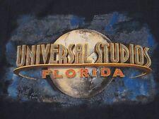 Vintage Universal Studios Florida Vacation Tourist Blue T Shirt Size L
