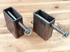 """2x4 target mount 3/16"""" A500 steel with 1/2"""" carriage bolt Set Of Two"""