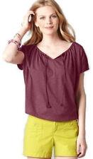 Women's Regular 100% Cotton Short Sleeve Sleeve Knit Tops & Blouses