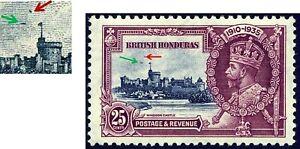 BRITISH HONDURAS GEORGE V 1935 SILVER JUBILEE SG 146 TWO UNLISTED VARIETIES MINT