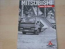 53975) Mitsubishi Canter 60 Kipper Prospekt 12/1986