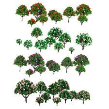 40 Flower Trees Model Train Railroad Wargame Diorama Landscape HO N Z Scale
