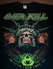 OVER KILL 2015 NORTH AMERICA TOUR Statue Of Liberty T-Shirt LARGE METAL NEW