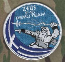 GREEK HELLENIC AIR FORCE HAF F-16 FIGHTING FALCON Zeús Δίας DEMO TEAM hook PATCH