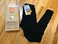 NEW ICEBREAKER MERINO BODYFIT EVERYDAY BASE LAYER MEN PANT W FLY 175 BLACK WOOL