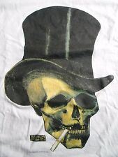 MC ESCHER Vintage T Shirt 90's PSYCHEDELIC Art Illusion SMOKING TOP HAT SKULL