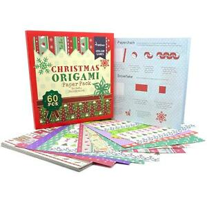 boppi Christmas 60 piece Origami Make Your Own Decorations Children's Fun New