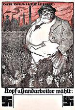 Art Ad German Anti Semitic   Propaganda  War Poster Print