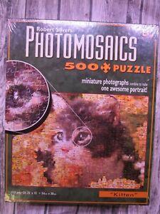 Kitten Photomosaics Jigsaw Puzzle - 500 Pieces - Robert Silvers - Buffalo Games
