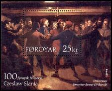 Faroe Islands 2003 Czeslaw Slania 100th Faroe Issue MS, Chain Dancing MNH / UNM