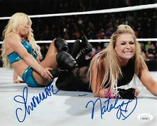 CHARLOTTE FLAIR & NATALYA WWE DIVAS SIGNED AUTOGRAPH 8X10 PHOTO JSA COA