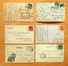 6 Postcards All Posted BAHNPOST 1898-1924 Railway Germany NEUMUNSTER HAMBURG Lot