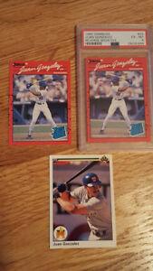 1990 Donruss Juan Gonzalez Error RC PSA EX-MT 6, Corrected Card & 90 Upper Deck