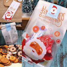 50x Weihnachten Cellophan Party Cookies Candy Weihnachtsgeschenk Dekor Taschen k