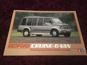 Bedford Cruise-O-Van Brochure 1984 - Rare UK Issue