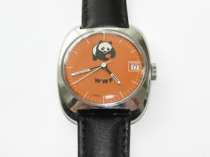 Panda WWF,Vintage,Handaufzug,Unisex,Armbanduhr,Wrist Watch,Montre,Orologio,RaRe!