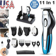 11In1 Men's Electric Hair Clipper Trimmer Beard Shaver Rechargeable Grooming Set