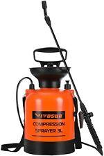 VIVOSUN 3l Pressure Sprayer Adjustable Nozzles Garden Watering Weed Sprayer AU