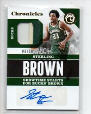STERLING BROWN 2017-18 CHRONICLES SIGNATURES SWATCHES ROOKIE RC PATCH AUTO /10