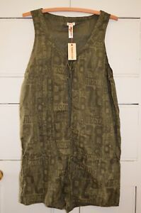 Diesel Womens Green Mini Sleeveless Lightweight Playsuit Size M New With Tags