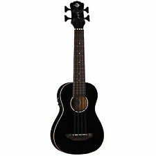 LUNA Bari-bass Semi Acoustic Ukulele With Preamplifier Classic Black