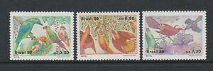 Brazil - 1986, Christmas, Birds set - MNH - SG 2256/8