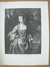 VINTAGE 1912 PRINT - MRS BONFOY By JAMES McARDELL