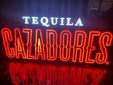 New ListingCazadores Tequila Neon Light Sign 24x12 Lamp Decor Beer Bar mancave rare led htf