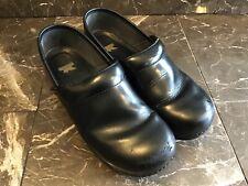 Dansko Professional XP Slip Resistant Clogs Black Leather   Sz 41 10.5-11