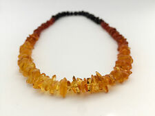 Baltic Amber Necklace Genuine Rainbow Multicolored Handmade Natural Beaded beads