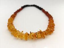 Baltic Amber Collana AUTENTICO ARCOBALENO Multicolore Fatto a mano con perline perle naturali
