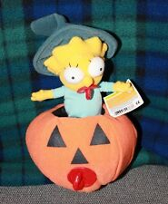 Applause The Simpsons Maggie Simpson Halloween Pumpkin Plush Toy New with Tags