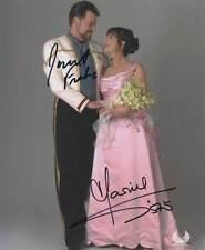 JONATHAN FRAKES & MARINA SIRTIS ++ Autogramm ++ Star Trek Enterprise