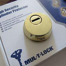 MUL T LOCK CYLINDER DOOR LOCK PROTECTOR - FOR EURO PROFILE - DOOR LOCK GOLD