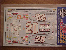 2001 TONY STEWART #20 HOME DEPOT 1/24-1/25 SCALE SLIXX  WATER SLIDE DECAL SHEET