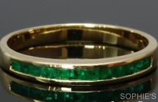 Emerald Yellow Gold 18k Wedding & Anniversary Bands