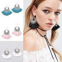 Charm Bohemian Vintage Long Tassel Fringe Boho Dangle Earrings Women Jewelry NEW