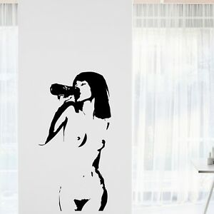 Sexy Girl 6 Wall Decal Man Cave Home Game Room Beer Decor Decoration Men Play