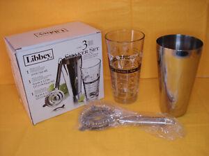Libbey Shaker Glass Set, 3-Piece Bartender Shaker Set-Mixing Glass