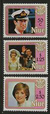 Niue  1982   Scott #   354-356     Mint Never Hinged Set