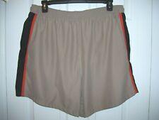 Islander Men Swim Trunks Size XL  100% Polyester Khaki with Trim